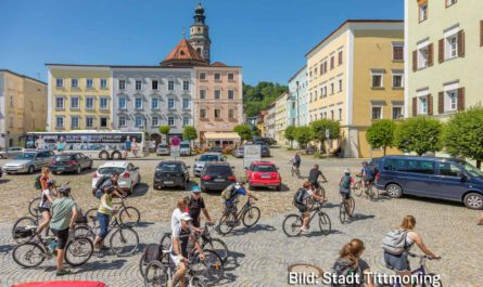 Radlfahrer Route Stadt