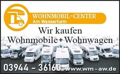 Wohnmobil-Center: Wir kaufen Wohnmobile und Wohnwagen
