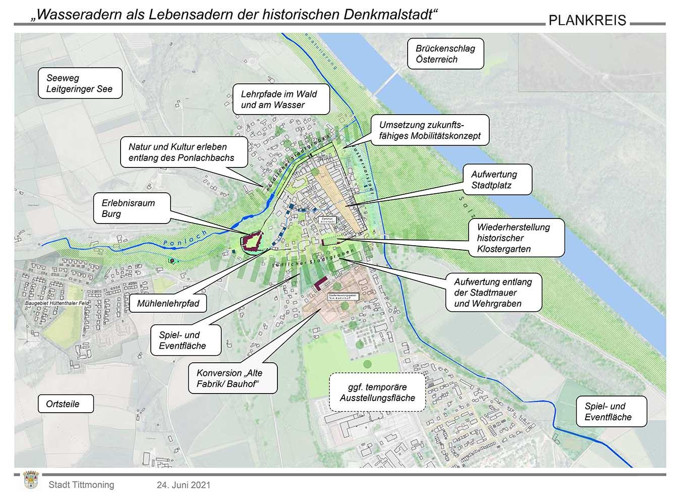 Landesgartenschau, Planskizze