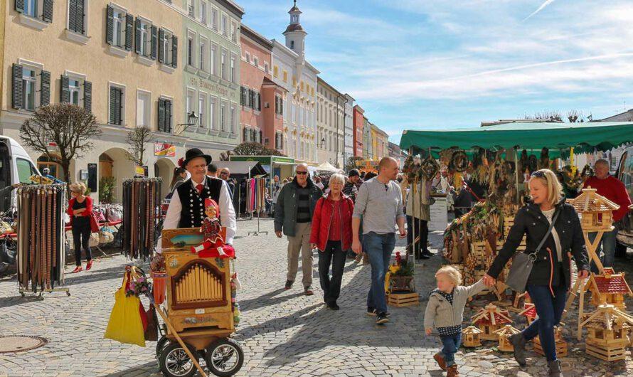 Rupertimarkt am Tittmoninger Stadtplatz